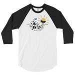 WHALE BE BLESSED - 3/4 Sleeve Raglan Tee • RobbyZEN