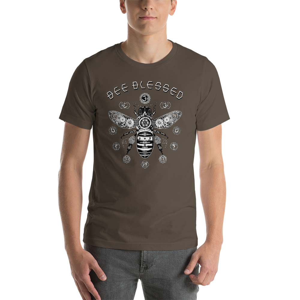 HONEY BEE BLESSED - Short-Sleeve Unisex T-Shirt • RobbyZEN