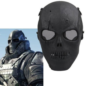 Skull Skeleton Airsoft Paintball BB Gun - Full Face Protect Mask ! - creative watcher