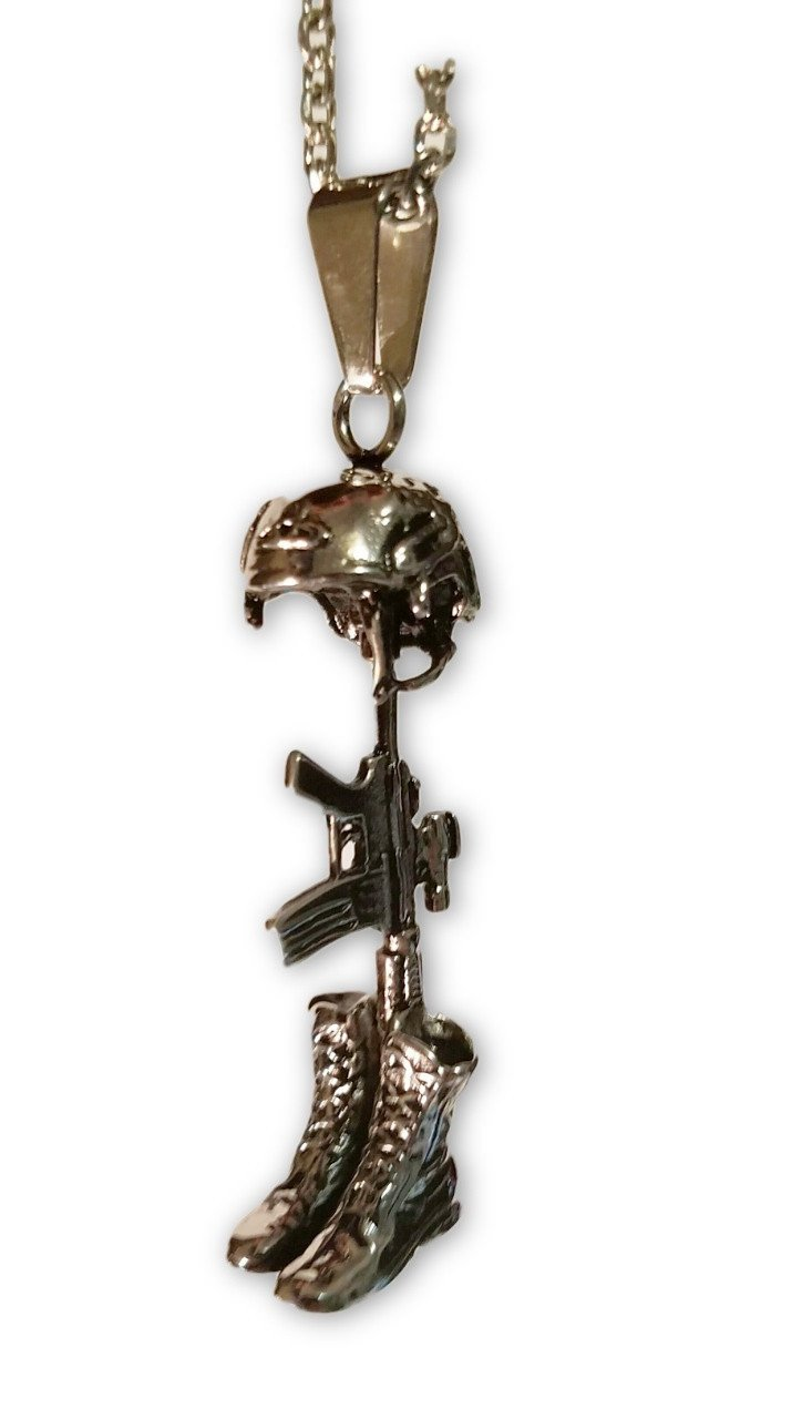 BattleField Veteran Memory Necklace Pendant - creative watcher