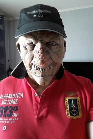 X-MERRY Halloween/Carnival Party Horror Scary Skeleton Head Mask Full Head Mask! - creative watcher