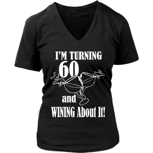 I'm Turning 60 And Winning About It Women V Neck T Shirt - creative watcher
