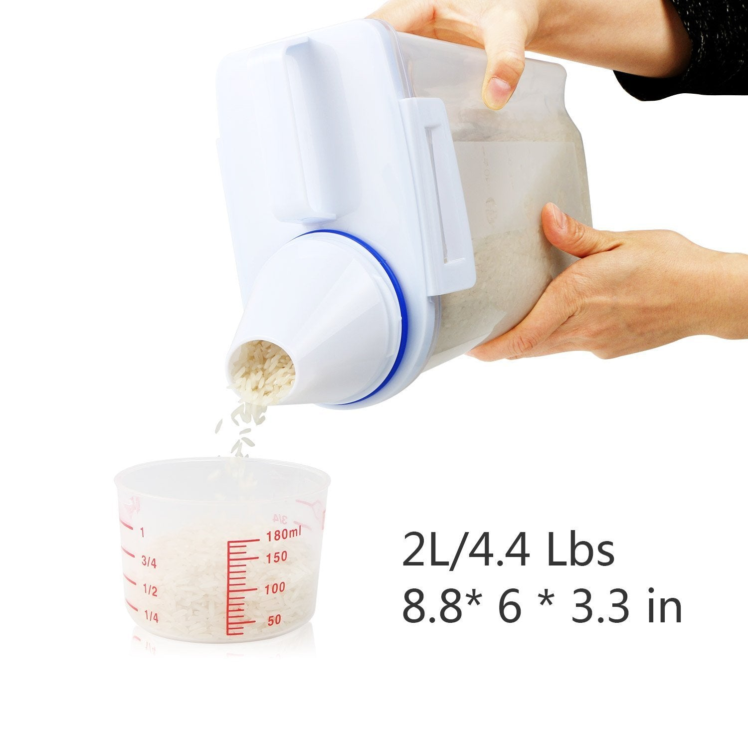 Dry Food Keeper With Pour Spout and Measuring Cup - creative watcher