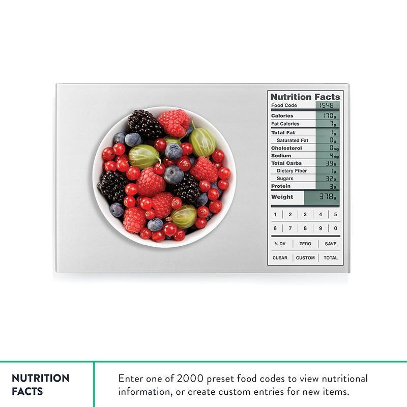Kitchen Scale with Nutritional Data - creative watcher