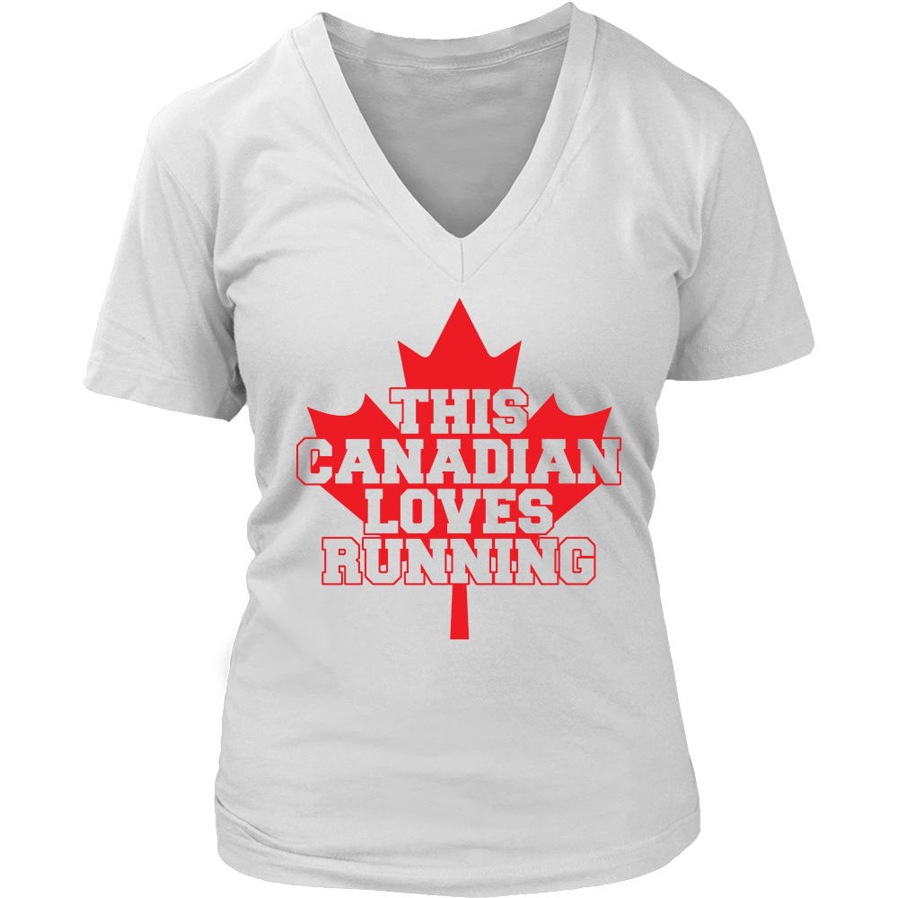 This Canadian Loves Running Women Canada Pride Runner T Shirt - creative watcher