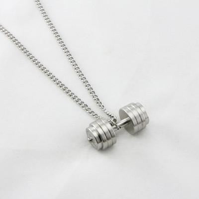 Dumbbell Necklace - creative watcher