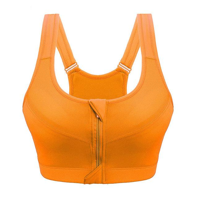 Plus size Front Zipper Sports Bra - creative watcher