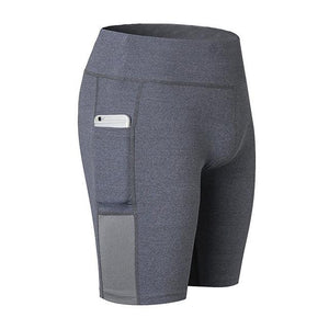 High Waist Out Pocket Yoga Shorts Tummy Control 4 Way Stretch - creative watcher