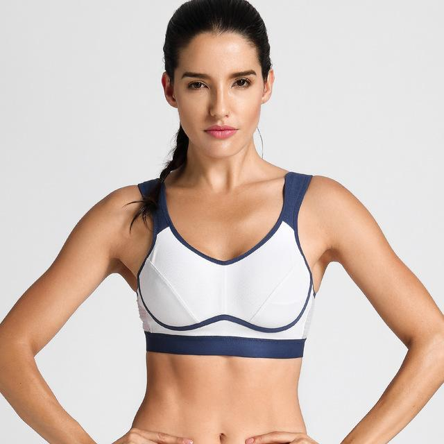 High Impact Support Bounce Control Workout Plus Size Sports Bra - creative watcher