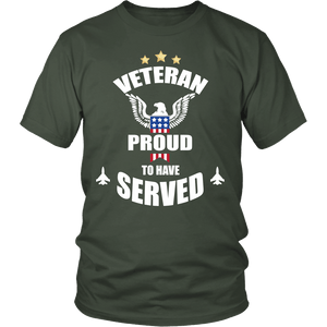 Veteran Proud To Have Served Military Army Navy Air Force T shirt - creative watcher