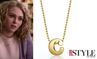 Real Style Network - We Found It: AnnaSophia Robb's C Necklace on The Carrie Diaries