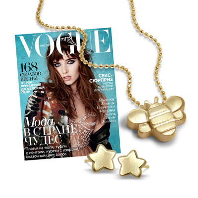 Vogue Russia - Little Seasons Bee and Mini Addition Star Earrings