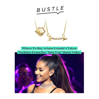 Bustle - Ariana Grande - Little Princess Kiss and Words Taken Arrow