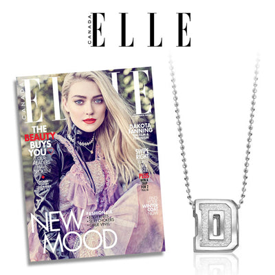 Elle Magazine - Dakota Fanning wears our Collegiate Dartmouth!