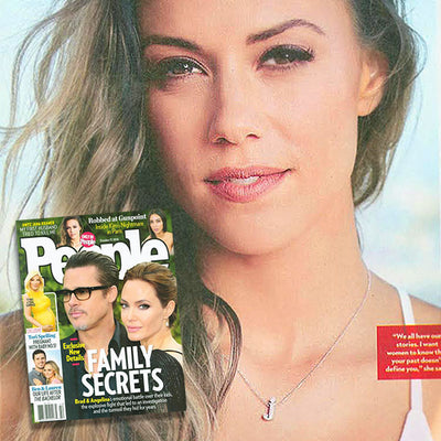 People Magazine - Jana Kramer - Diamond Letter J