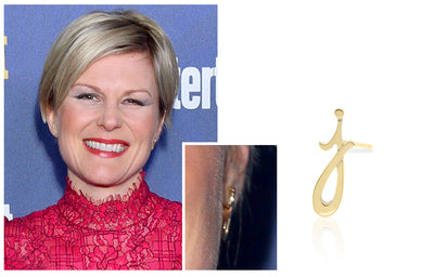Jennifer Robertson - Autograph Letter Earring Single Stud