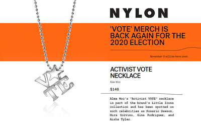 "NYLON - ""VOTE"" Merch for the 2020 Election"