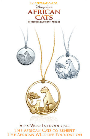 "ABC News - Jewelry Designer Alex Woo Designs Pendant Inspired by New Film ""African Cats"" to Benefit the AWF"