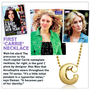 Life & Style - First 'Carrie' Necklace