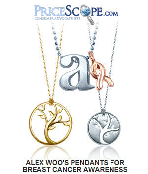 Pricescope - Alex Woo's Pendants for Breast Cancer Awareness
