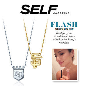 SELF Magazine - Root for your World Series Team with Jamie Chung's Necklace!
