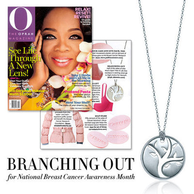 O, The Oprah Magazine - Branching Out for National Breast Cancer Awareness Month