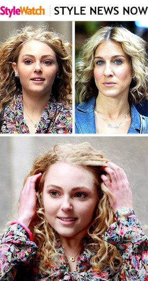 People - Carrie Bradshaw's Iconic Nameplate Necklace: Now and Then