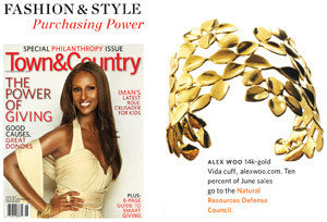 Iman Covers Town & Country
