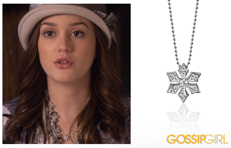 Leighton Meester as Blair Waldorf wearing Alex Woo Little Seasons Snowflake