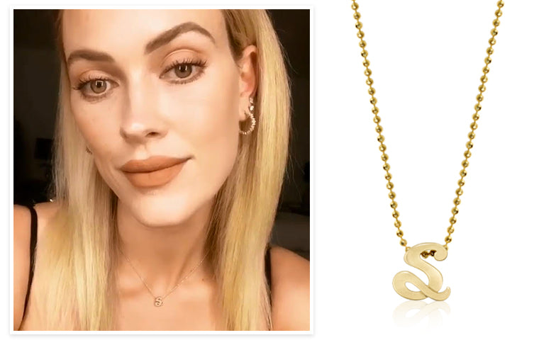 Peta Murgatroyd :: Alex Woo Autograph Letter S in 14K Yellow Gold