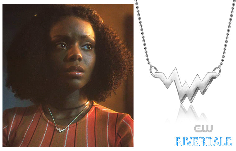 The CW's Riverdale actress, Ashleigh Murray, wore our Sterling Silver Elements Heartbeat in Season 3,  Episode 9, No Exit!