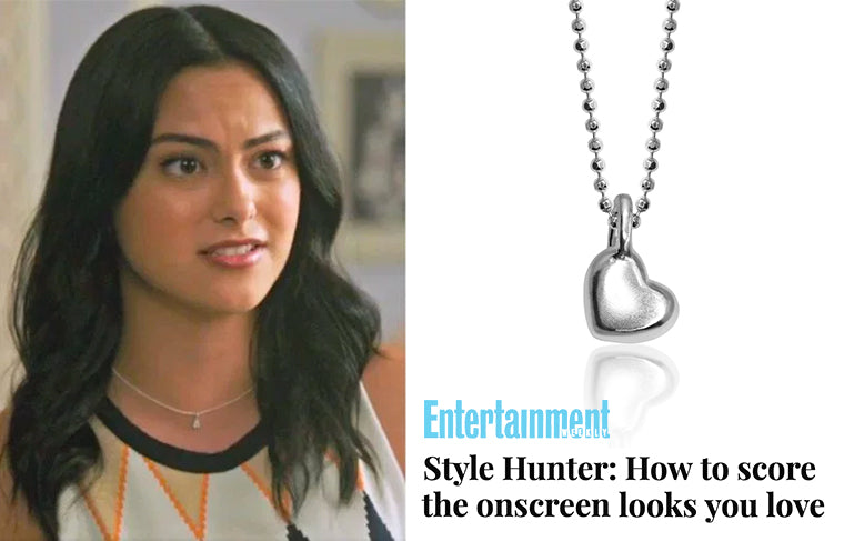 Entertainment Weekly – Style Hunter: How to score the onscreen looks you love :: Camila Mendes wearing Alex Woo Mini Addition Heart in Riverdale