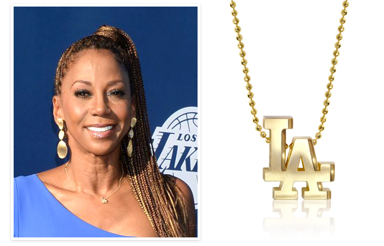 Holly Robinson Peete wearing Little MLB LA Dodgers at the Dodgers Foundation Gala