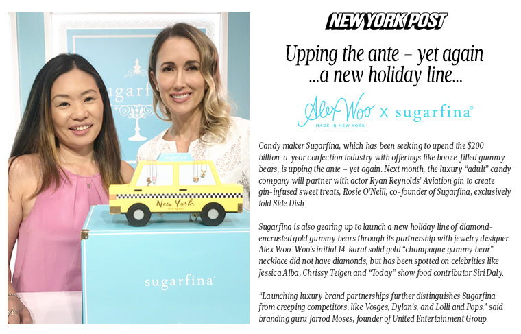 NY Post :: Alex Woo x Sugarfina