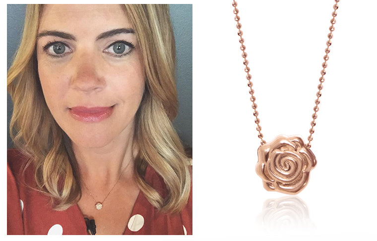 Author and TODAY Show Host Siri Daly wearing Alex Woo x Sugarfina But First, Rosé Rose