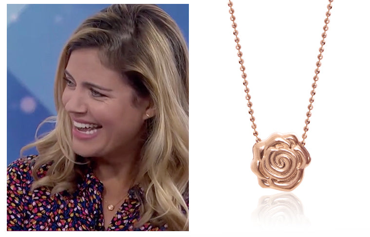 TODAY Show host Siri Daly wearing Alex Woo x Sugarfina Rose