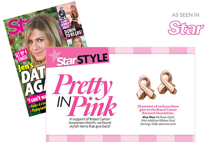 As Seen In Star Magazine in support of Breast Cancer Awareness Month