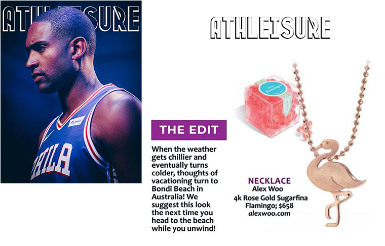 Athleisure Magazine :: How to Dress for Travels to Bondi Beach featuring Alex Woo x Sugarfina Flamingo in 14kt Rose Gold