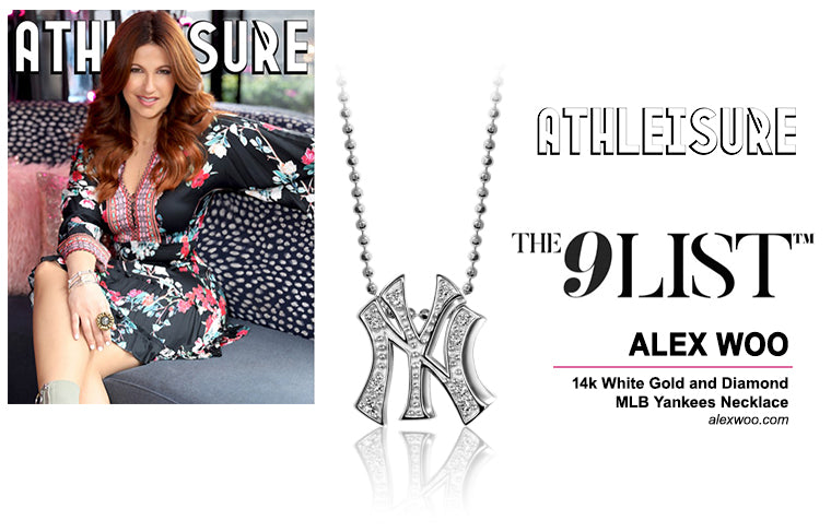 As Seen In Athleisure Magazine :: Alex Woo x MLB Yankees in 14kt White Gold with Diamonds