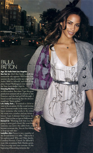 Paula Patton Elle November 2006