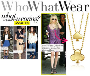 Taylor Momsen wearing Alex Woo's Little Vegas Spade and Little Big Vegas Club!