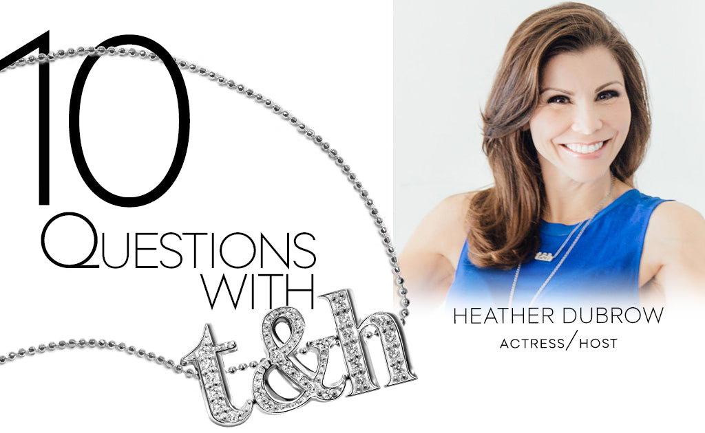 10 Questions with Heather Dubrow wearing Alex Woo Custom Little Triple Letters