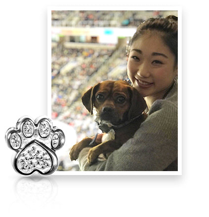 Alex Woo Little Activist Paw in White Gold and Diamonds