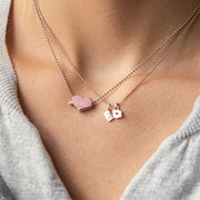 Sterling Silver & Pink Princess Sweetheart