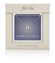 14k White Gold & Diamond Letter J