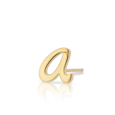 14kt Yellow Gold Autograph Earring Single Stud