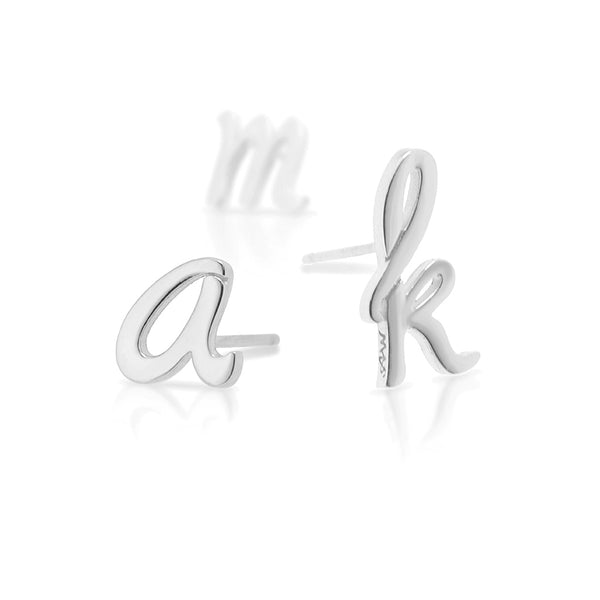 Sterling Silver Autograph Earring Single Stud
