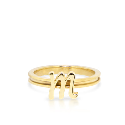Custom 14kt Yellow Gold Autograph Ring