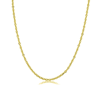 "24"" 18kt Yellow Gold Cable Chain"