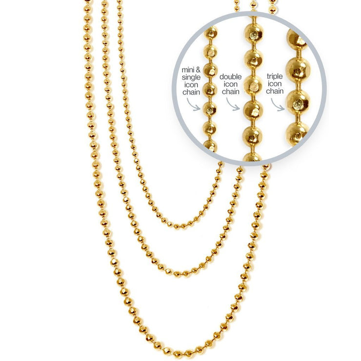 Disco Chain in 14kt Gold - 1 mm